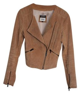 Bershka Suede camel Leather Jacket