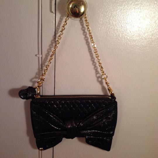 Juicy Couture Black with gold shimmer Clutch