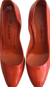 Rochas Orange Pumps