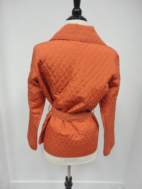 Rebecca Taylor Quilted Belted Orange Jacket
