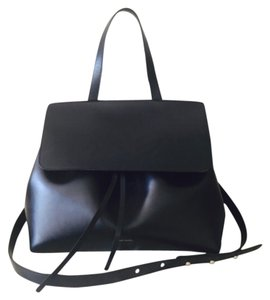 Mansur Gavriel Satchel in Black / Flamma