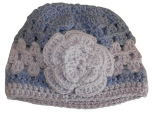 Other NEW Handmade lavander w flower Crochet Beatiful Hat 16x7 NCHES size s