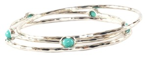 Ippolita IPPOLITA STERLING SILVER & TURQUOISE BANGLE TRIO