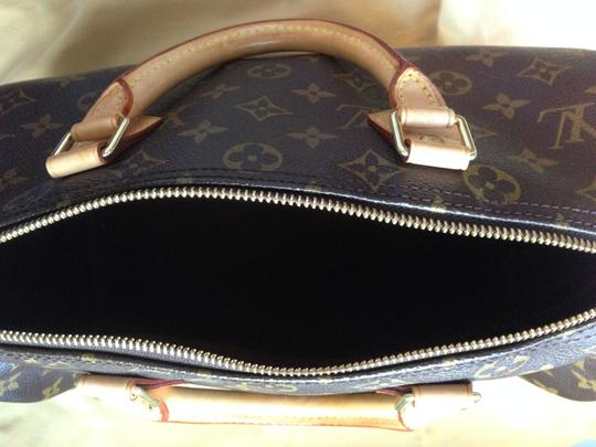 Louis Vuitton Monogram Canvas Leather Classic Satchel in Brown