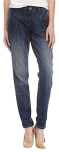 Robert Rodriguez Soft Denim Chino Pleated Relaxed Fit Jeans-Dark Rinse
