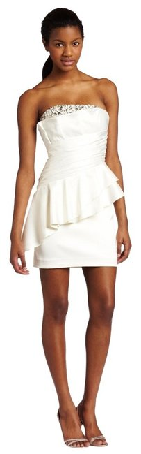 Laundry by Shelli Segal Ruff Ruffle Party Sparkle Strapless Dress