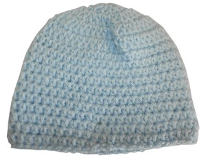 Other NEW newborn Handmade blue size 0-3 months Crochet Beatiful Hat 15x6.5 NCHES size s