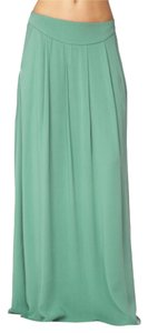 Other Boho Pocket Pleated Summer Maxi Skirt Teal green