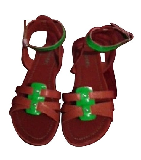 Preload https://item2.tradesy.com/images/unionbay-bown-and-green-ankle-strap-two-toned-sandals-size-us-7-regular-m-b-1281-0-0.jpg?width=440&height=440