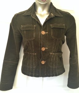 Tulle Corduroy Olive green with gold trim Jacket