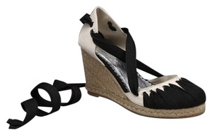 Lovely People Black/white Wedges