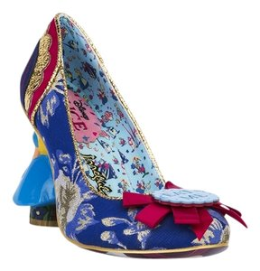 Irregular Choice Dark Blue and Gold Pumps