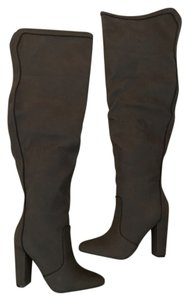 JustFab Over The Knee Brown Boots