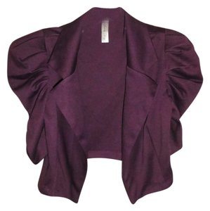 Lovely Day Puff Sleeve Collar Purple Blazer