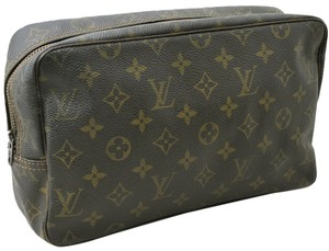 Louis Vuitton Auth Louis Vuitton Monogram Trousse Toilette 28 Clutch Hand Bag