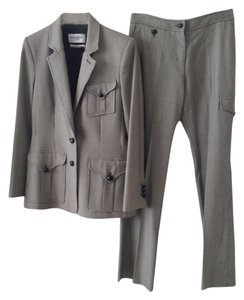 Saint Laurent Yves Saint-Laurent Rive Gauche Grey Women's Pantsuit