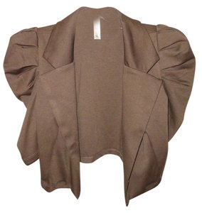 Lovely Day Puff Sleeves Collar Brown Blazer
