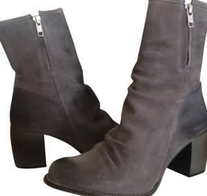 Jeffrey Campbell Ruched Grey Boots