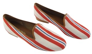 Ramon Tenza Loafers Red/White/Blue Flats