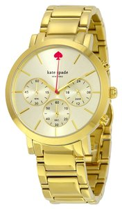 Kate Spade KATE SPADE Gramercy Grand Chronograph Champagne Dial Gold-tone Ladies Watch