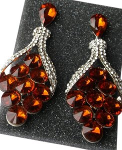 Other Huge Amber Color Fashion Earrings Free Shipping