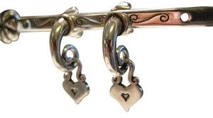 Brighton Brighton Sterling Silver Dangling Heart Earrings