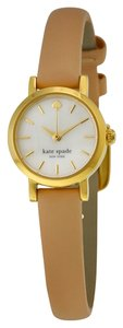 Kate Spade KATE SPADE Tiny Metro Mother of Pearl Dial Vachetta Leather Ladies Watch