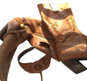Spanish designer cowboy boots Brown Boots