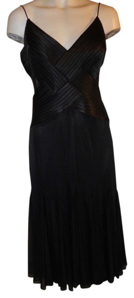 abb19d01b14 Cache Black Sheer Panel Mid-length Cocktail Dress Size 8 (M) - Tradesy