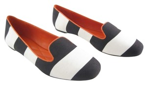 Johnston & Murphy Black / White Flats