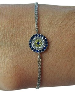 Other Rhinestones Circle Women's Bracelet with two Row Chain