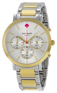 Kate Spade KATE SPADE Gamercy Chronograph Silver Dial Two-tone Ladies Watch