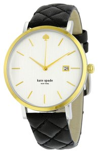 Kate Spade KATE SPADE Metro White Dial Black Leather Ladies Watch