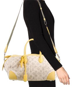 Louis Vuitton Denim Yellow Leather Limited Edition 2012 Shoulder Bag