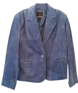 Bernardo Blue Suede Leather Jacket