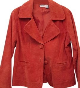 Chico's Rust Suede Jacket