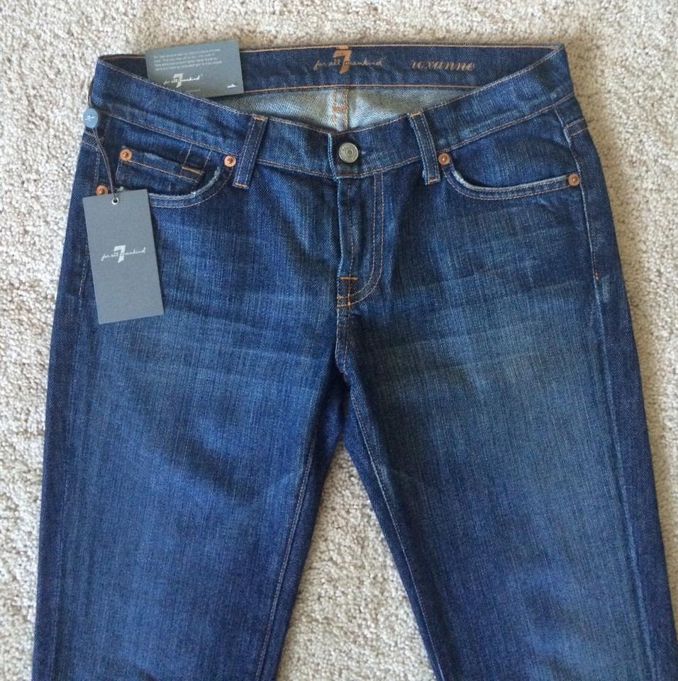 7 For All Mankind New York Dark Rinse Roxanne Skinny Jeans Size 26