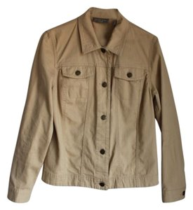 Kate Hill Cotton Tan/Brown Jacket