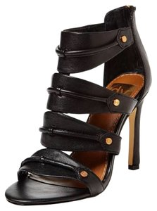 Dolce Vita Leather Studs Sexy Black Sandals