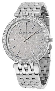 Michael Kors Crystal Pave Dial Silver tone Stainless Steel Designer Luxury Watch