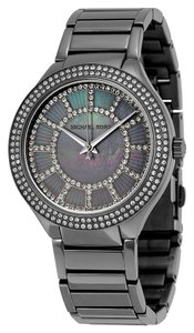 Michael Kors Crystal Pave Grey Dial Gunmetal Stainless Steel Designer Watch
