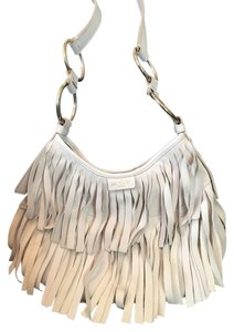 f202a0f0b938 Saint Laurent Leather Suede Fringe Hem Shoulder Hobo Bag