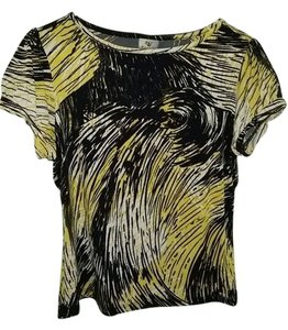 Worthington Top Black/White/Yellow