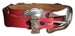 Justin RED LEATHER JUSTIN BELT WITH CONCHOS IN THE WESTERN STYLE