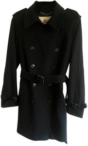 Burberry London Double Breasted Belted Pea Coat