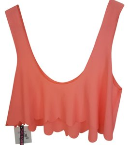 Hot Water New Coral Peach Coverup Top Coral Neon