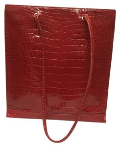 Fendi Alligator Tote in Red