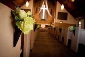 Green 14 Silk Bouquets We Used On The Pews Ceremony Decoration