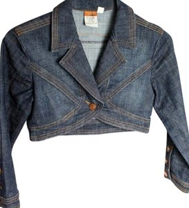 Boom Boom Jeans Crop Coat Small blue denim Womens Jean Jacket