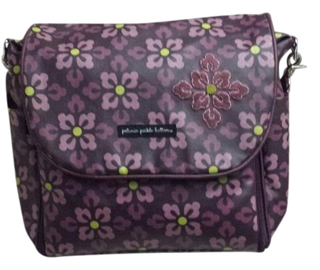 Item - Backpack Boxy Purple Coated Canvas Diaper Bag